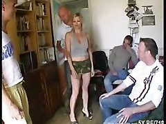 Blonde, French, Gangbang, Xhamster